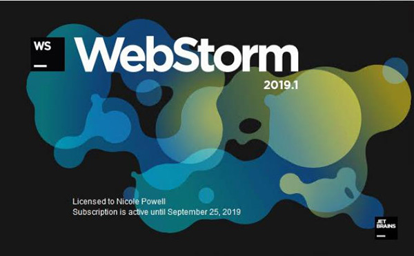 JetBrains WebStorm 2019.1.1绿色破解版